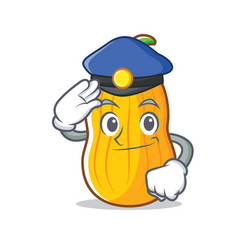 Police butternut squash character cartoon vector