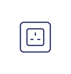 power outlet with type g socket line icon vector image