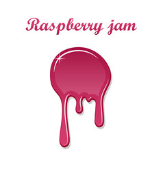 raspberry drip jam 3d sweet raspberries splash vector image