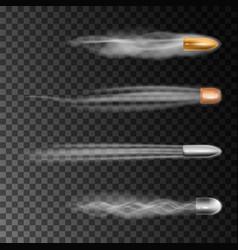 Realistic bullet flies vector
