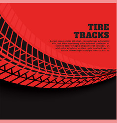 red background with tire track prints vector image