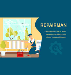 repairman website banner template vector image