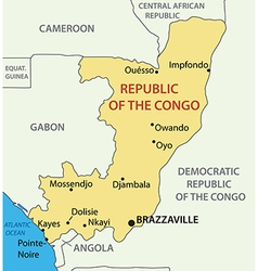 Republic of the Congo - map vector image