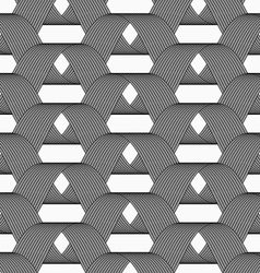 Ribbons intersecting waves pattern vector