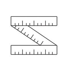 Ruler line icon vector