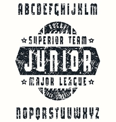 Sanserif font in sport style rugby vector
