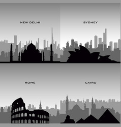 Set of cityscapes vector
