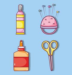 set of craft supplies vector image