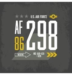 shabt-shirt us aircraft emblem vector image