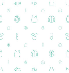 shirt icons pattern seamless white background vector image