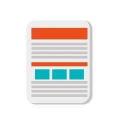Single document icon vector