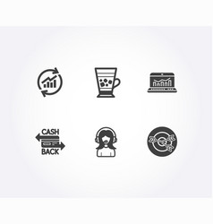 Update data web analytics and cashback card icons vector