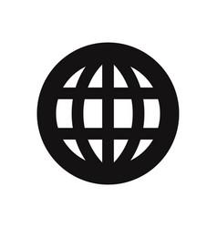 worldwide icon vector image