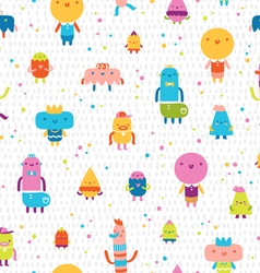Abstract characters seamless pattern vector image vector image