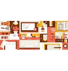 Abstract workspace design flat vector image vector image