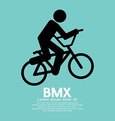 BMX Bicycle Sign vector image