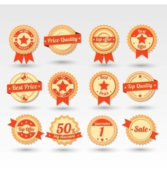 Collection of Sale Emblems in vector image vector image