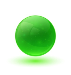Green glossy glass sphere vector image