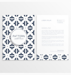 letterhead template design with pattern vector image vector image