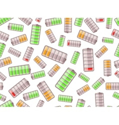 seamless pattern with batteries charged in vector image vector image