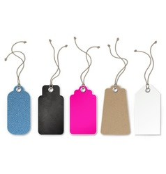Set of price and sale tags for store vector image
