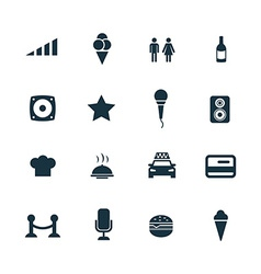 Bar icons set vector