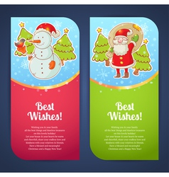 Christmas greeting postcards vector image vector image