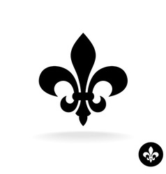 Fleur de lis simple elegant black silhouette logo vector image