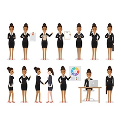 black businesswoman people characters vector image vector image