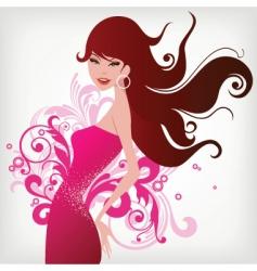 fashion woman vector image vector image