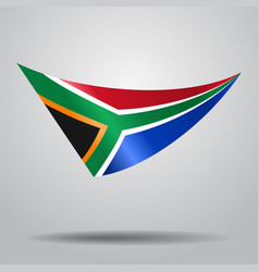 south african flag background vector image vector image