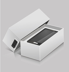 unbox device vector image