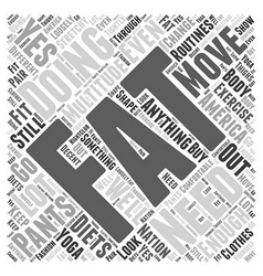 yoga clothes Word Cloud Concept vector image vector image