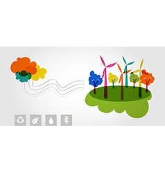 Green world renewable resources colorful trees vector image