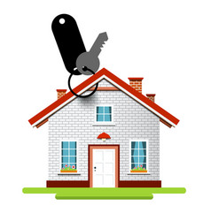 house icon with key and key holder vector image vector image