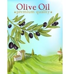 Olive Oil Premium Poster vector image