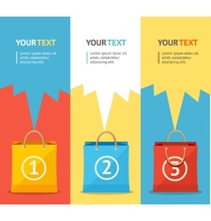 paper bag sale card option banner Flat vector image vector image