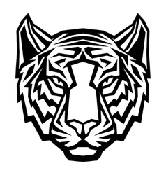 Tiger head logo mascot on white background vector image