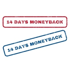 14 days moneyback rubber stamps vector