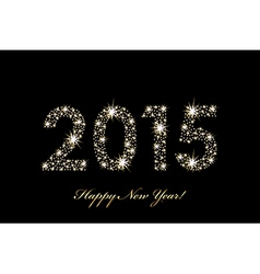 2015 Happy New Year background with sparkles vector