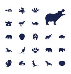 22 wildlife icons vector