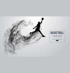 Abstract silhouette of a basketball player vector