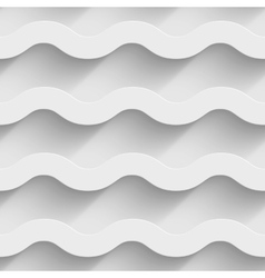 Abstract white paper 3d horizontal waves seamless vector