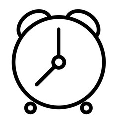 alarm clock line icon time vector image