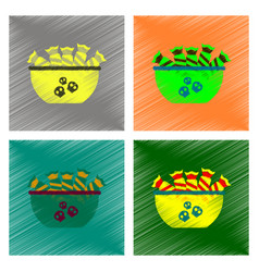 Assembly flat shading style icon halloween candy vector