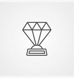 award icon sign symbol vector image