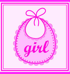 baby bib for girl vector image