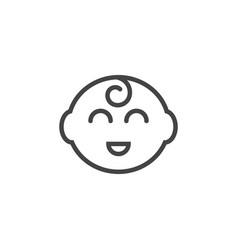 baby head icon design template isolated vector image