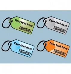 barcodes tags vector image