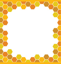 Bee honeycomb pattern backgrounds vector